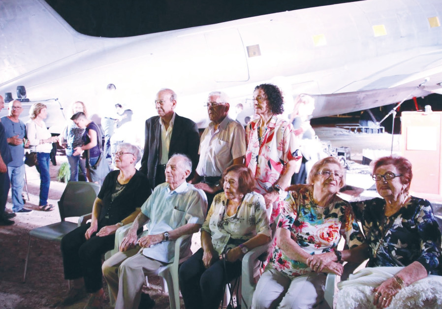 ISRAELIS WHO made aliya in Operation Michaelberg attend the commemoration in Atlit on Wednesday.