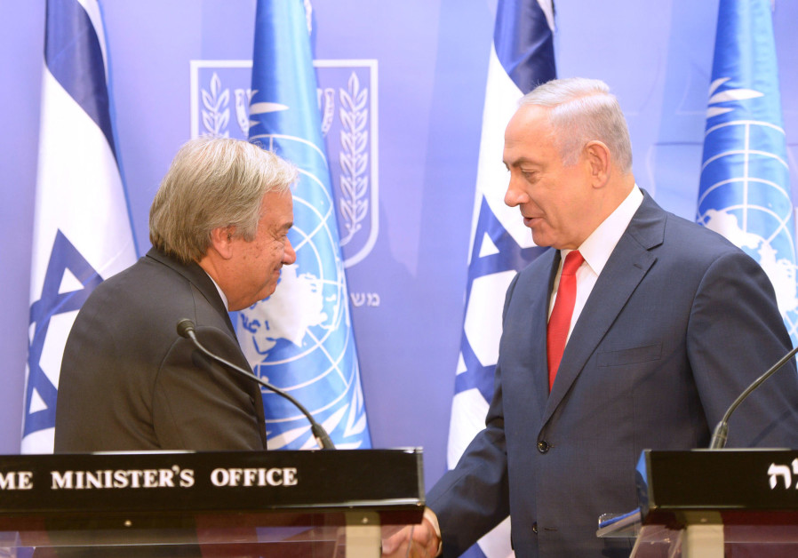Guterres: Calling to destroy Israel is antisemitism