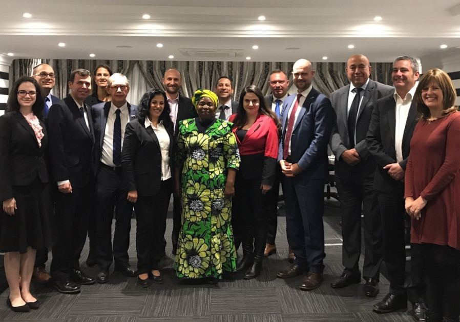 Members of Knesset and South African Jewish communal officials meet with South African politicians