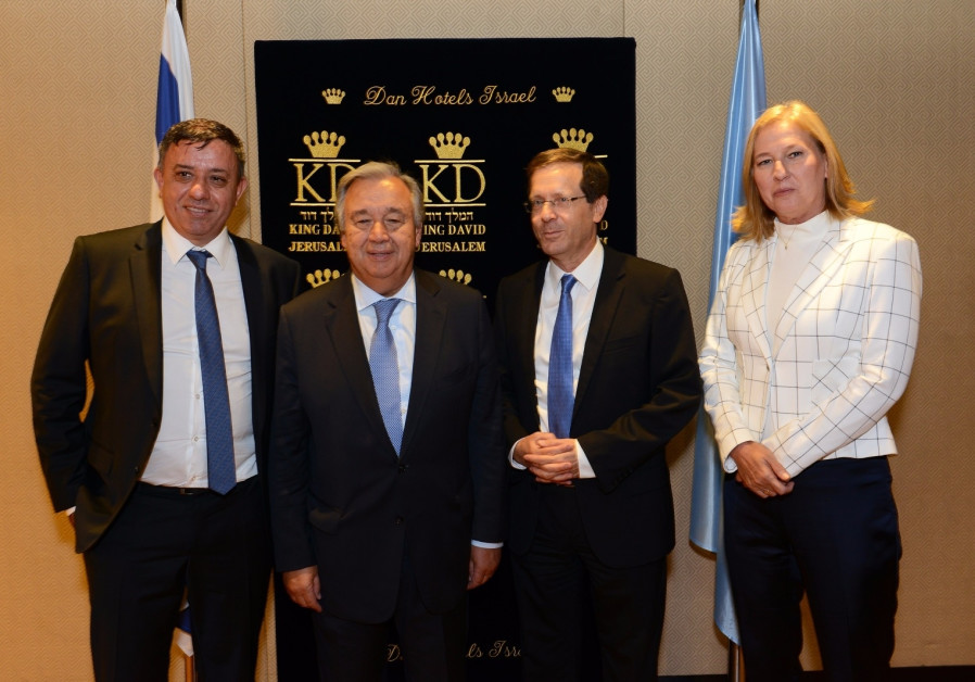 Zionist Union leaders to Guterres: Fight antisemitism at UN