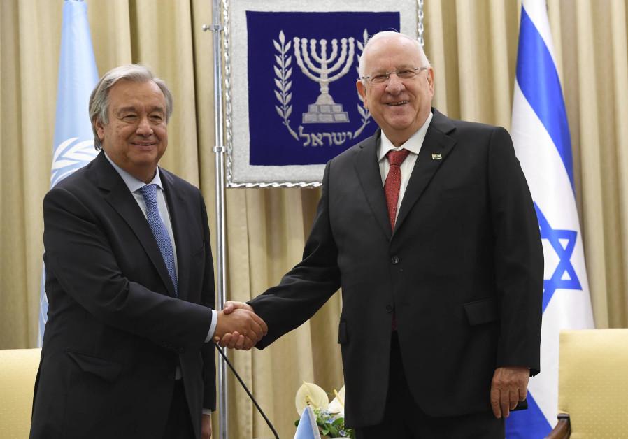 President Rivlin meets with UN Sec. Gen. Antonio Guterres