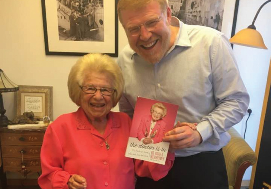 DR. RUTH with David Rozenson and her book 'The Doctor Is In.'