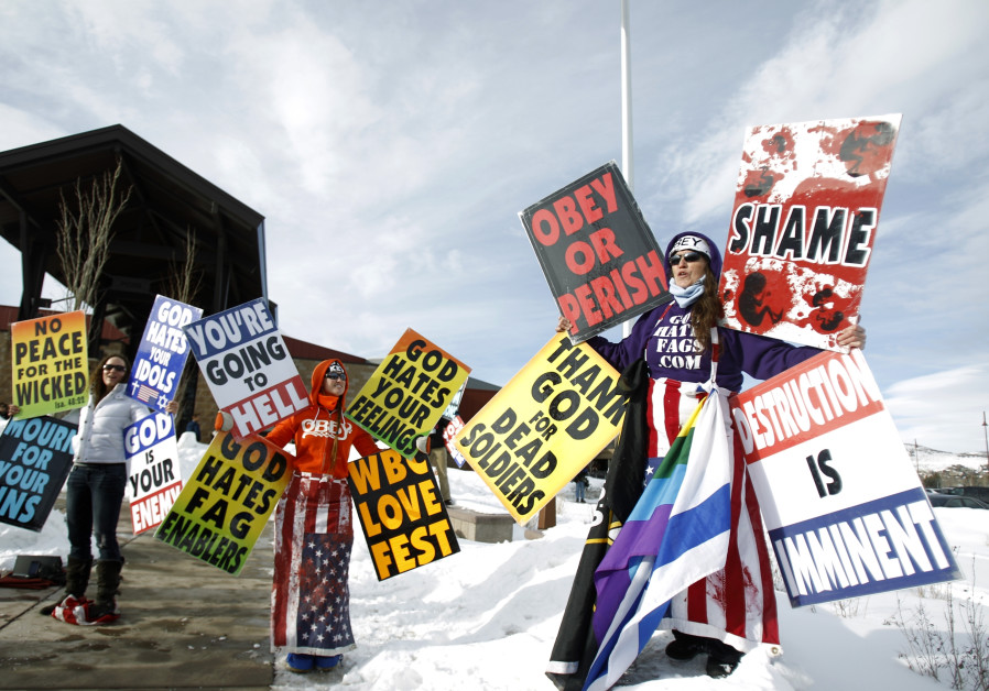 Members from the Westboro Baptist Church.