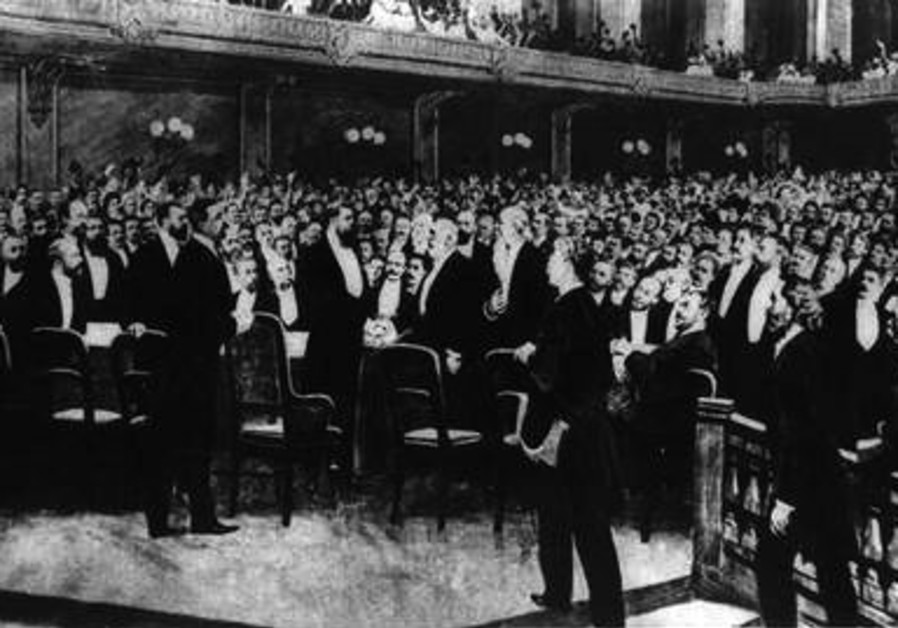 The delegates at the First Zionist Congress, held in Basel, Switzerland, in 1897.