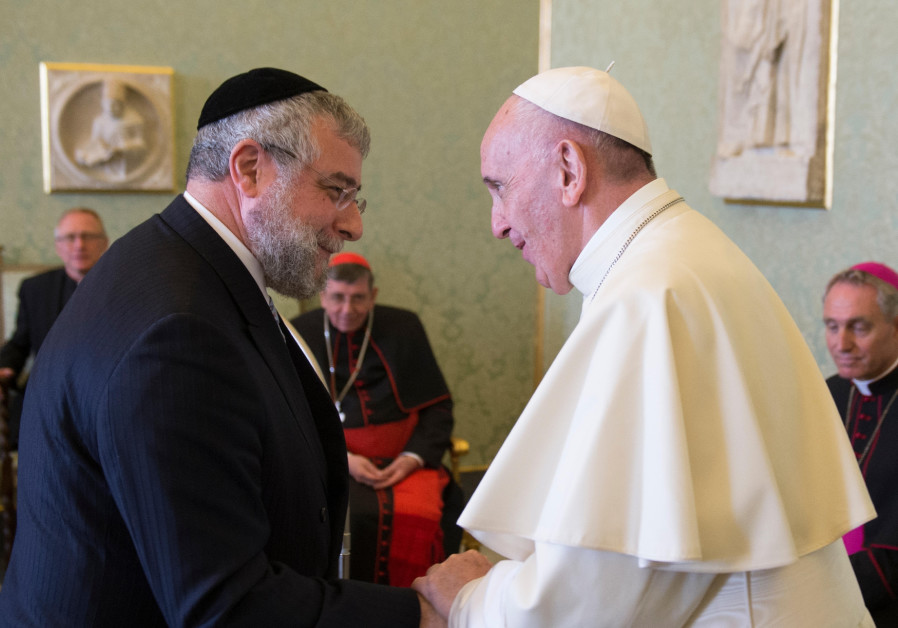 Pope Francis and Rabbi Pinchas Goldschmidt