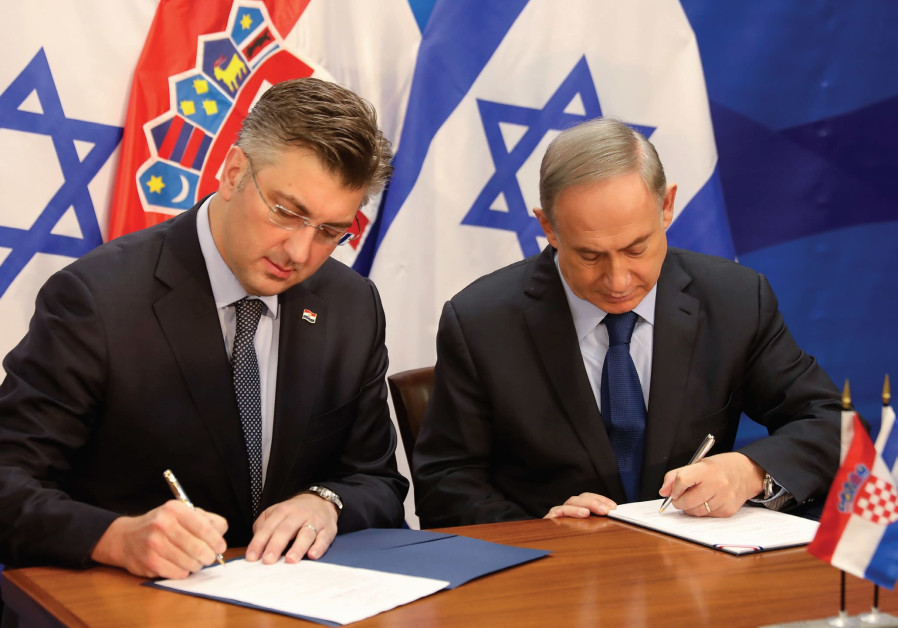 PRIME MINISTER Benjamin Netanyahu and his Croatian counterpart