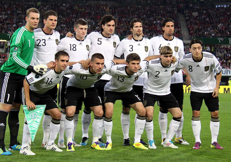 German national soccer team during Euro 2012 qualifiers.