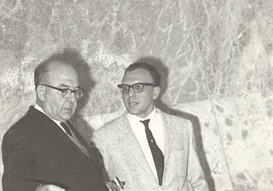 The author, Avraham Avi-hai, with then prime minister Levi Eshkol in 1965.