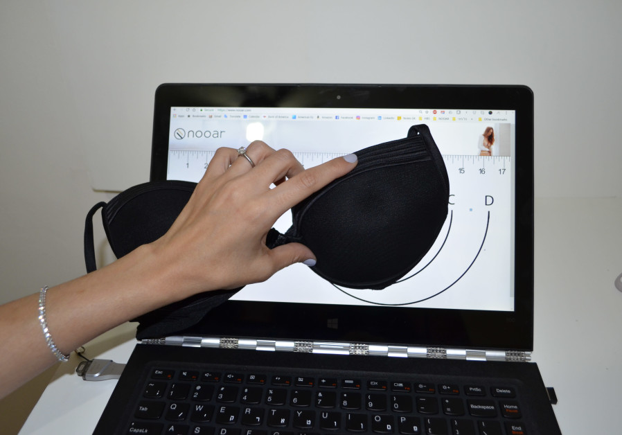 Nooar, an Israeli start-up lingerie firm, allows women to place their bra on a tablet or computer s