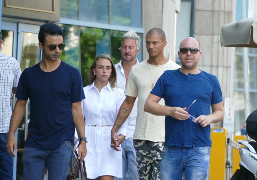 Jeremy Meeks and Chloe Green in Tel Aviv, hot felon