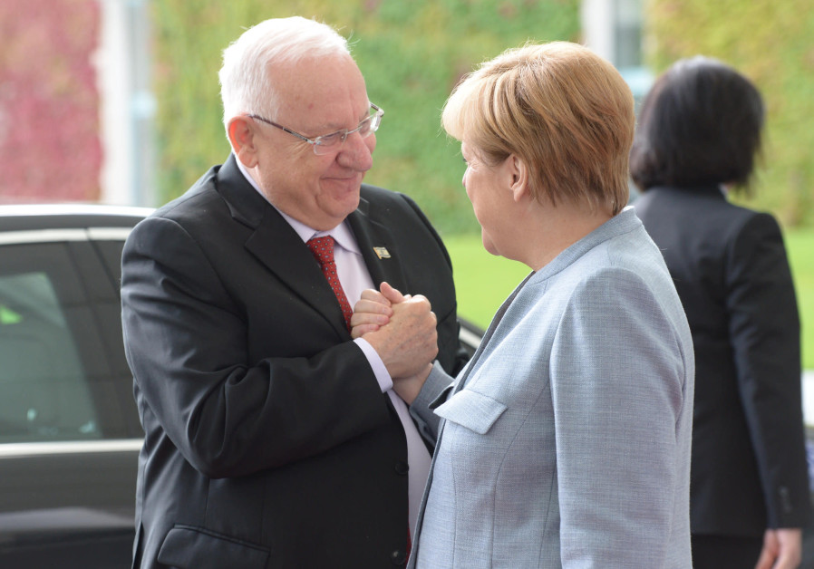 President Reuven Rivlin meets German Chancellor Angela Merkel in Germany
