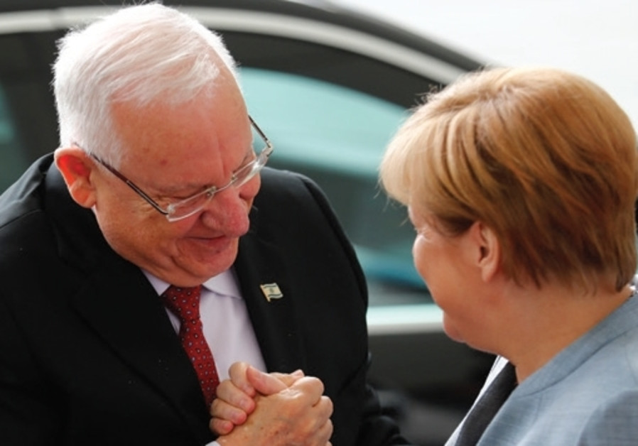 Security is main issue during Rivlin's meeting with Merkel