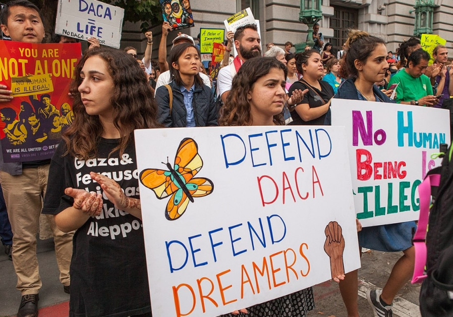 A rally in support of DACA in San Francisco, 2015