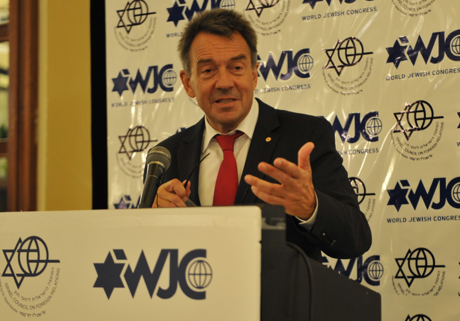 International Committee of the Red Cross (ICRC) President Peter Maurer speaks at a World Jewish Cong