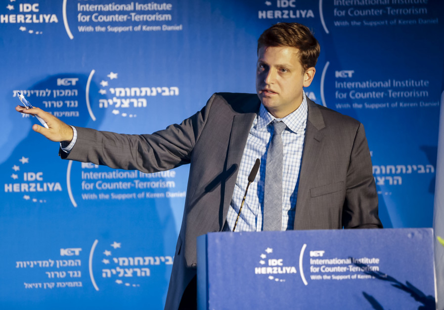 Brian Fishman, Lead Policy Manager--Counterterrorism at Facebook speaks at the ICT Conference n Herz