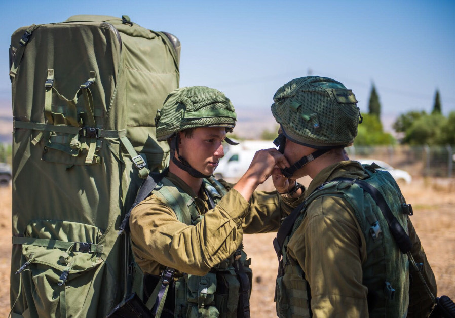 IDF soldiers participating in the Or HaDagan Northern Command drill, September, 2017.