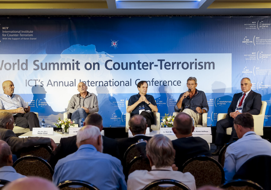 Experts take part in a panel at the IDC Institute of Counterterrorism annual conference