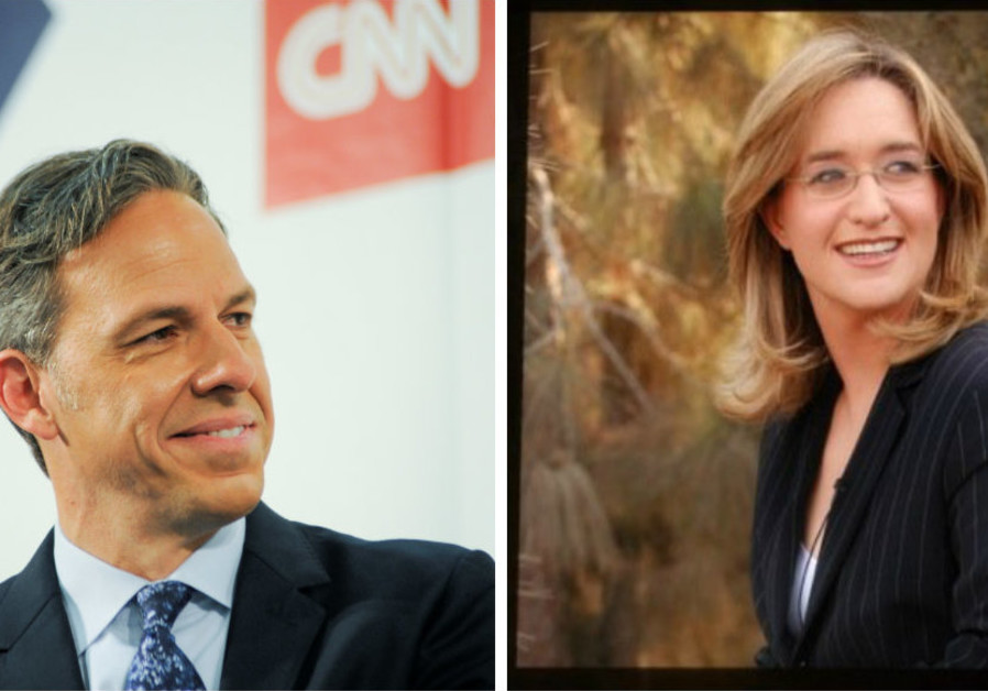 CNN's Jake Tapper (Left) and Channel 2's Ilana Dayan