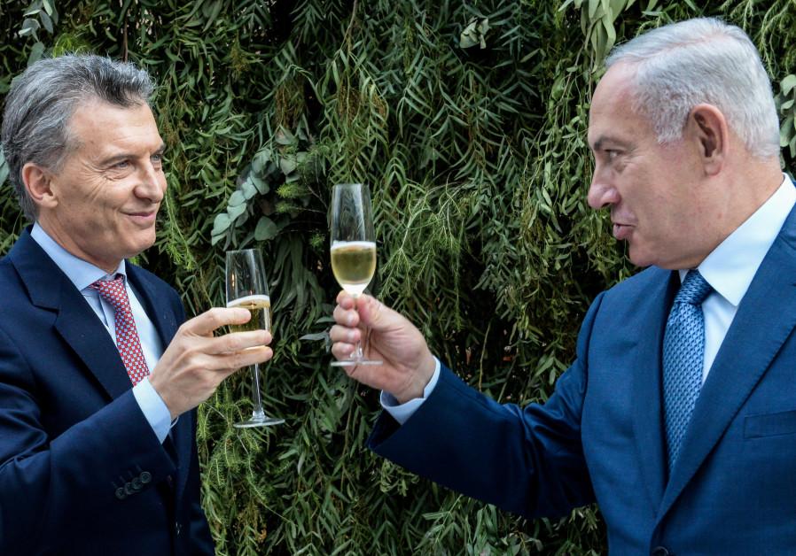 Le Premier ministre Netanyahu et le président de l'Argentine Macri en l'honneur de la visite de Netanyahu en Argentine