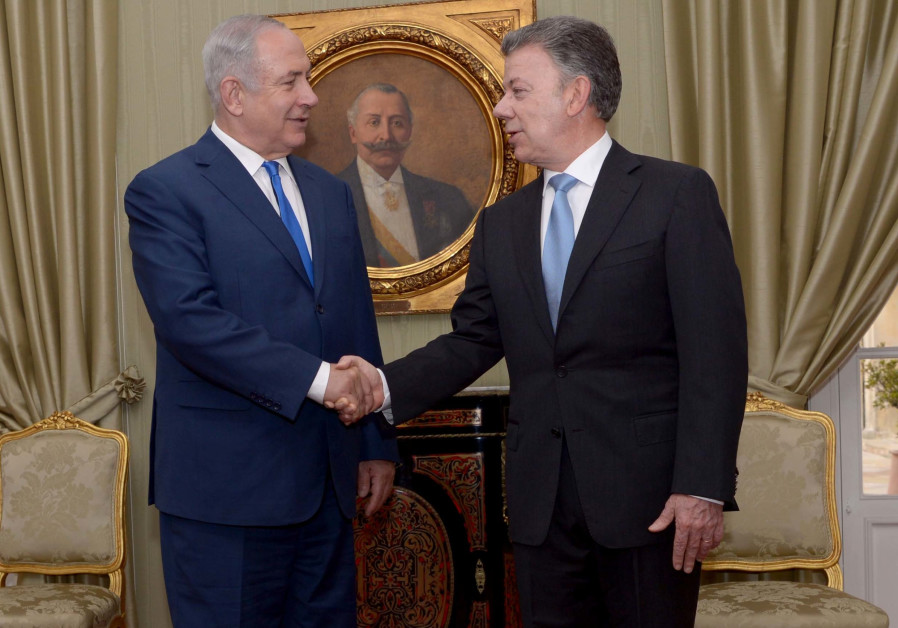 Colombia's president praises Israel for help in massive landmine clearing efforts