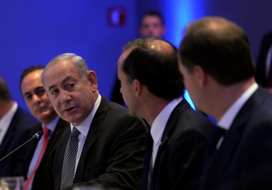 Prime Minister Netanyahu is speaking with the top businessmen of Mexico.