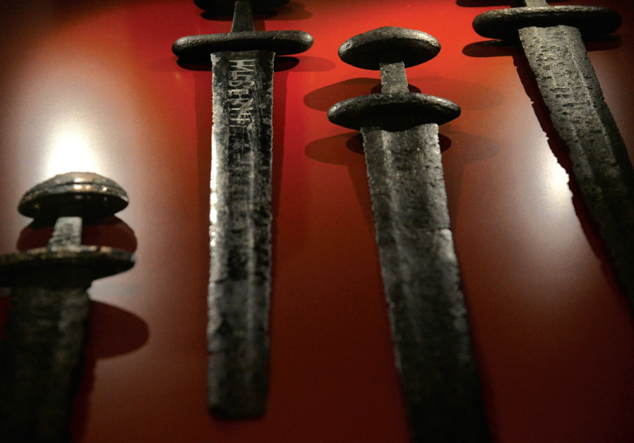 Antique swords from ancient Israel.