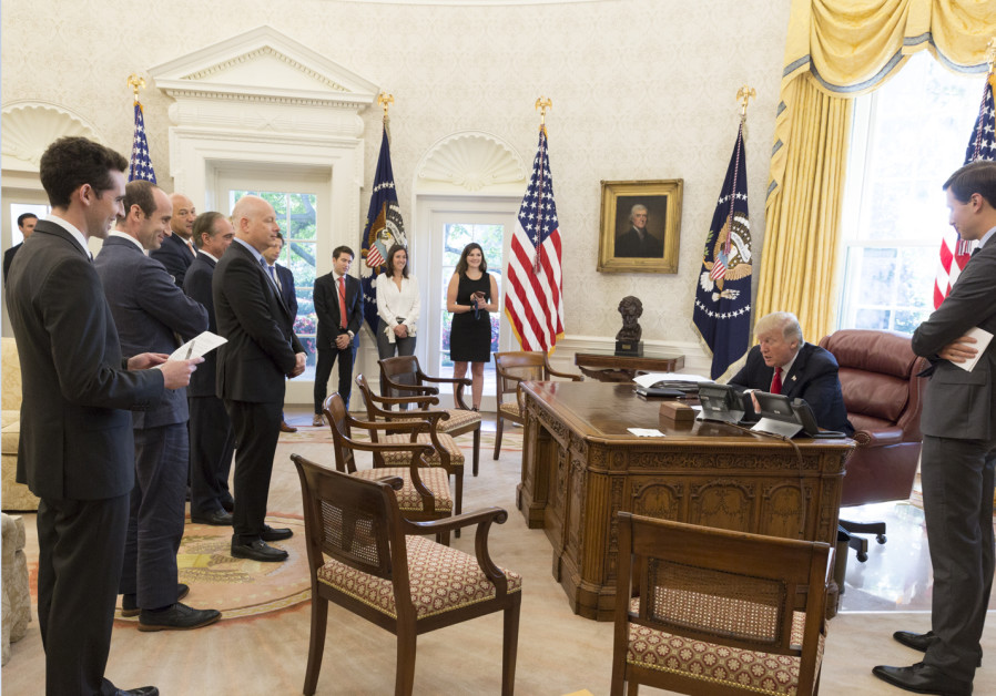Trump speaking on the phone with Jewish leaders