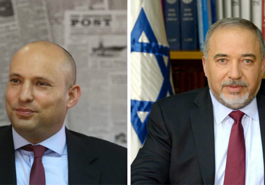 Naftali Bennett (left) and Avigdor Liberman