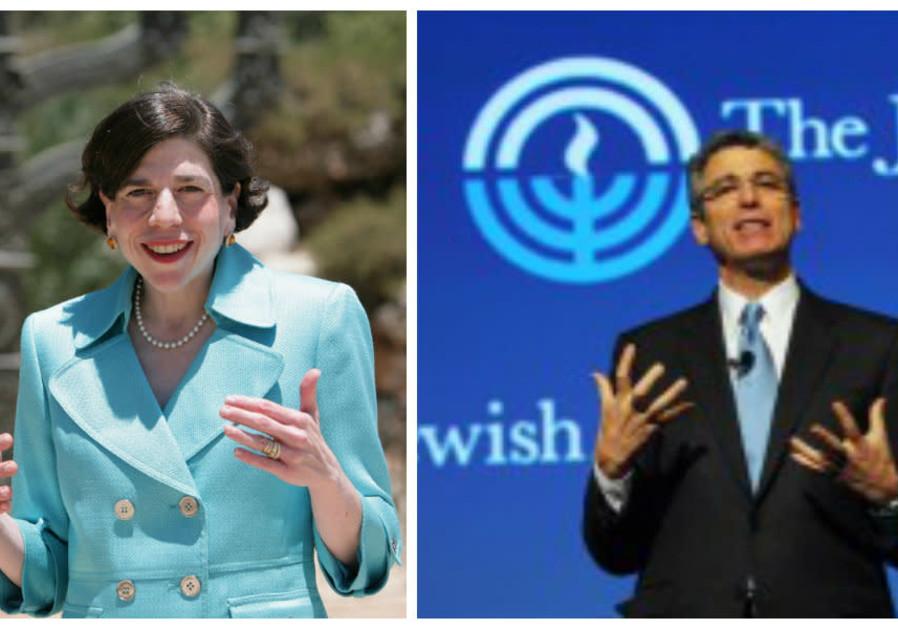 Rabbis Julie Schonfeld (left) and Rick Jacobs