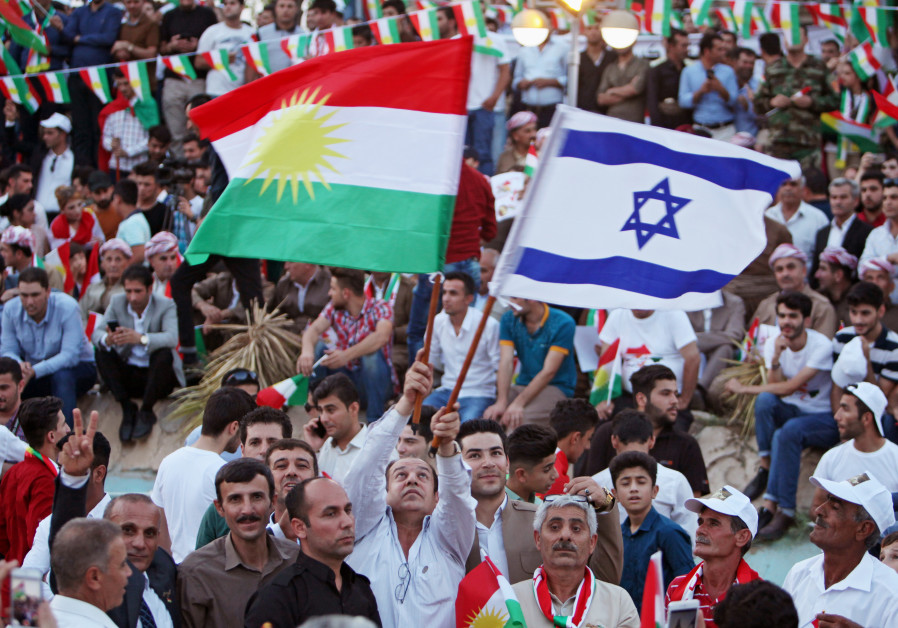 IN PICTURES: Kurds are flying Israeli flags at independence rallies