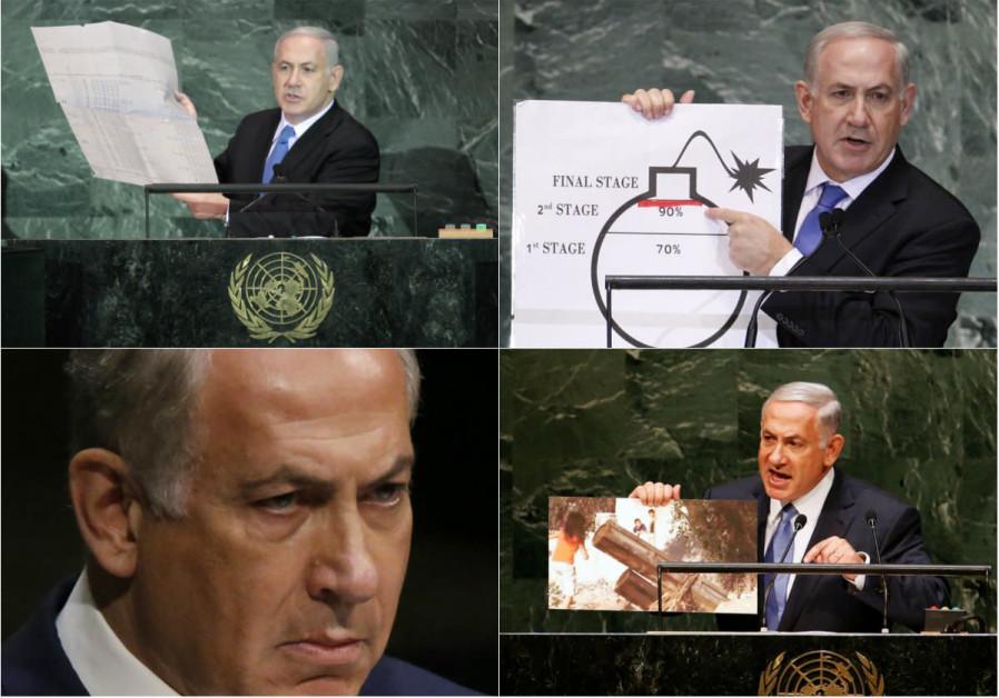 Off-Broadway theatrics: Netanyahu's top 4 spotlight-stealing UN moments