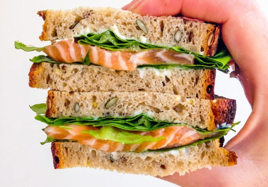 Gravlax sandwich.