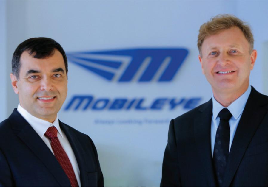 Mobileye co-founders Amnon Shashua (left) and Ziv Aviram.