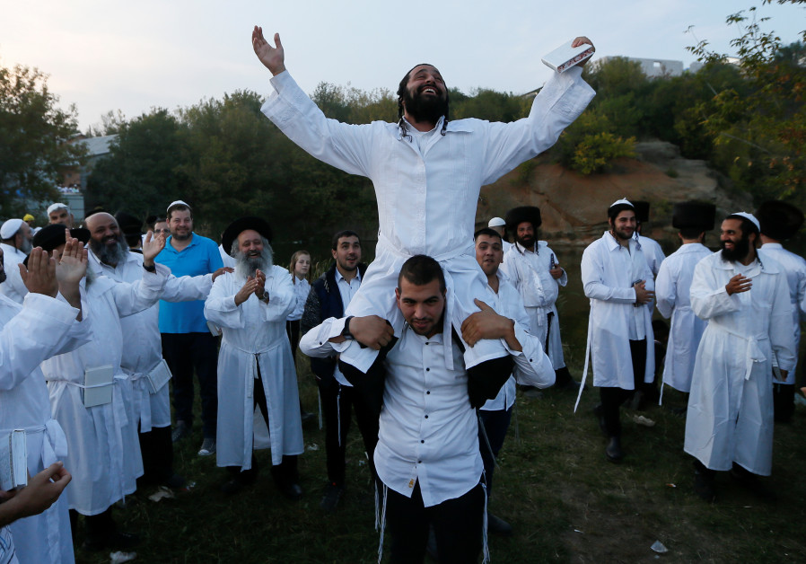 In Pictures: Ultra-Orthodox flock to celebrate Rosh Hashana in Ukraine