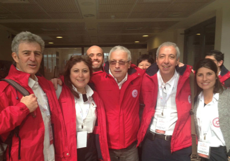 Dr. Michel Alimi (second from the right) with a team of other French medical professionals.