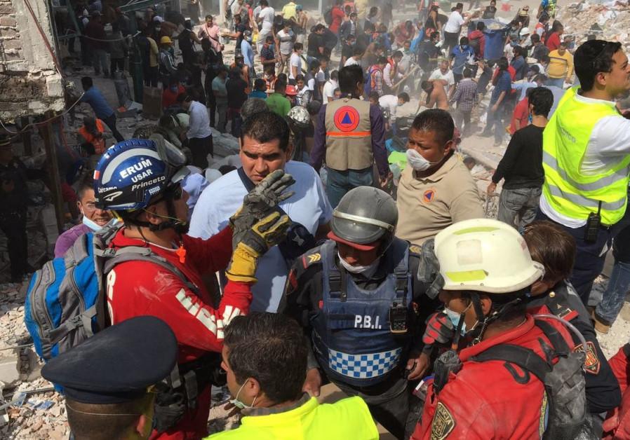 ZAKA recovers body of rabbi from rubble left by Mexico City earthquake
