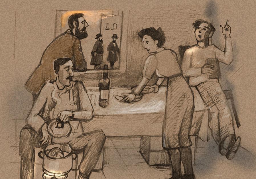 A family prepares for Yom Kippur.
