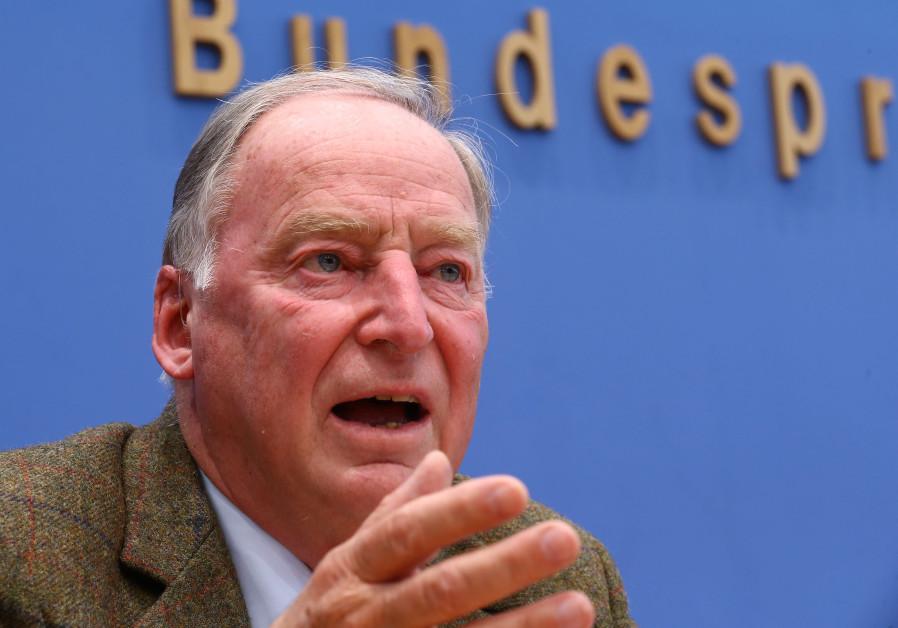 Alexander Gauland, top candidate of the anti-immigration party Alternative fuer Deutschland (AfD)