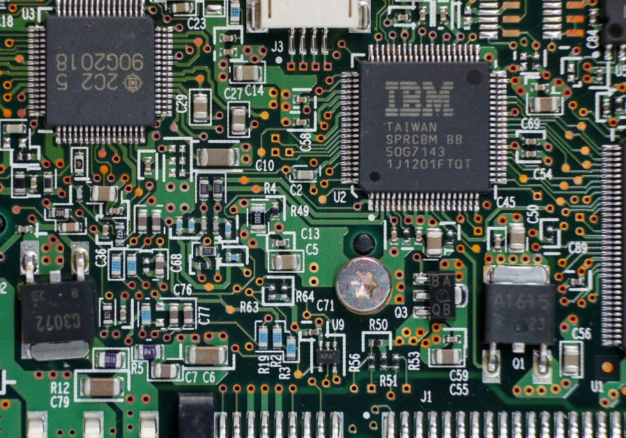 An IBM chips are seen in Kiev, Ukraine April 21, 2016.