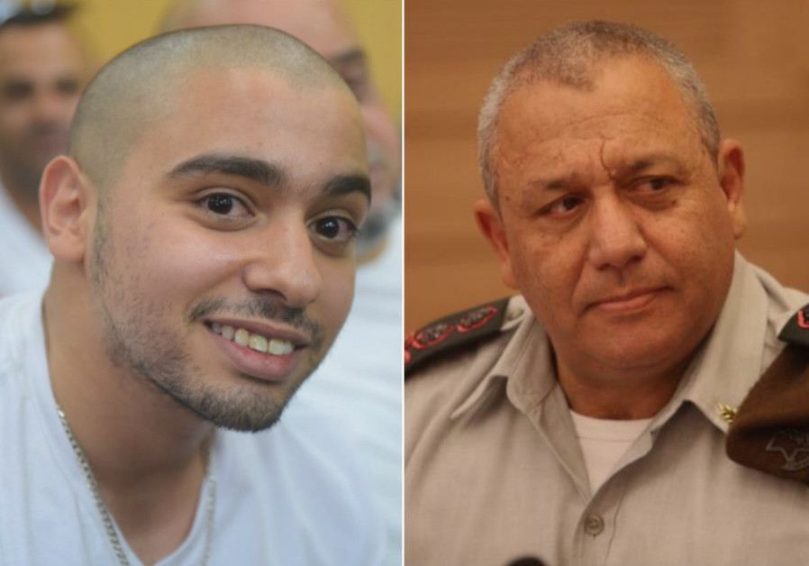Hebron shooter Elor Azaria and IDF Chief of Staff Gadi Eisenkot