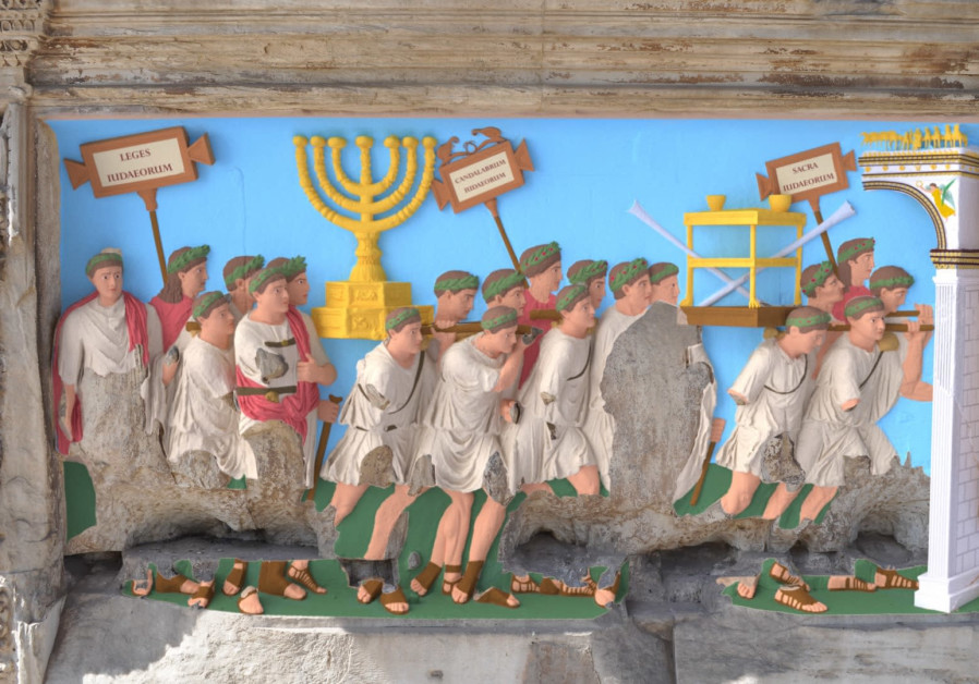 'Our ancestors saw the images on the Arch in an array of colors': The 'colorized' Spoils Panel.