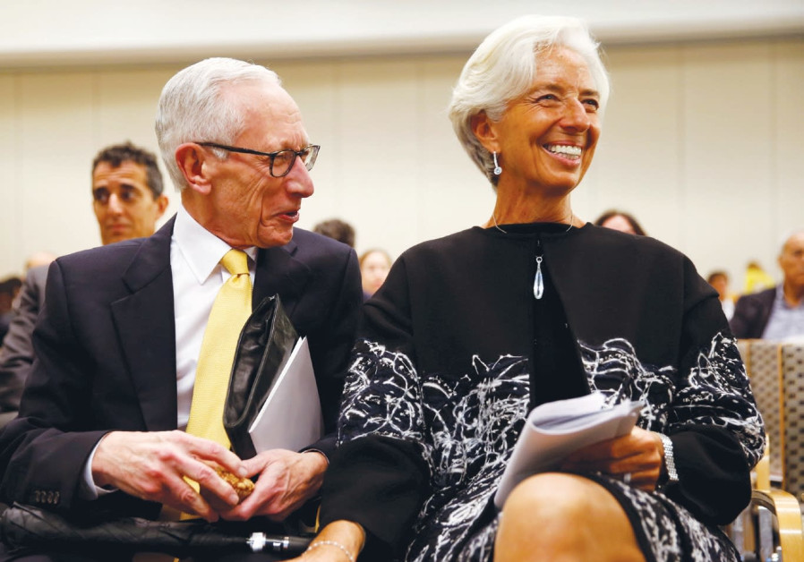 Stanley Fischer with IMF Managing Director Christine Lagarde in Washington in November 2016