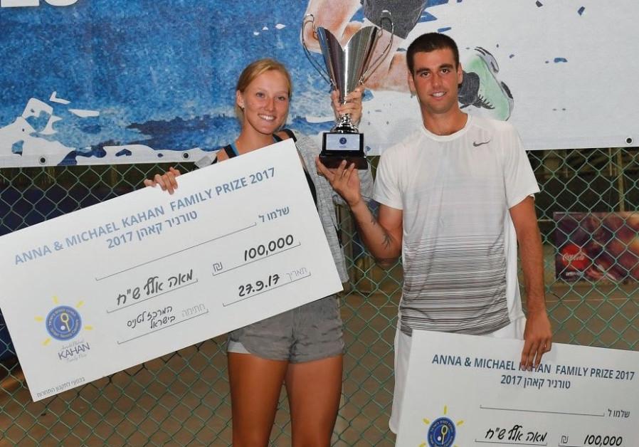 Tennis stars Lina Glushko and Ben Patael