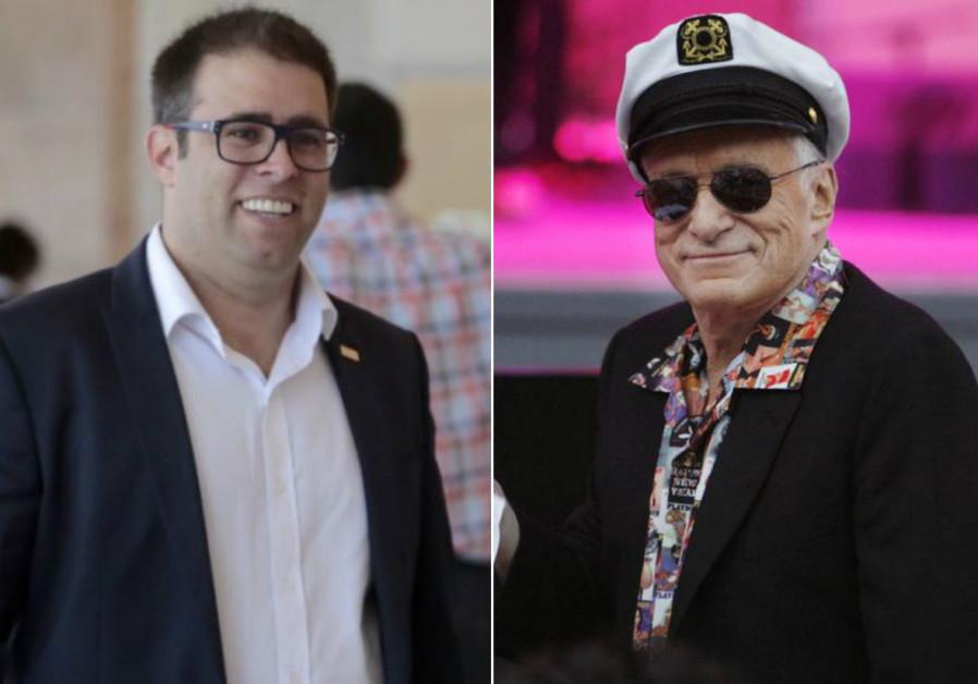 Oren Hazan and Hugh Hefner