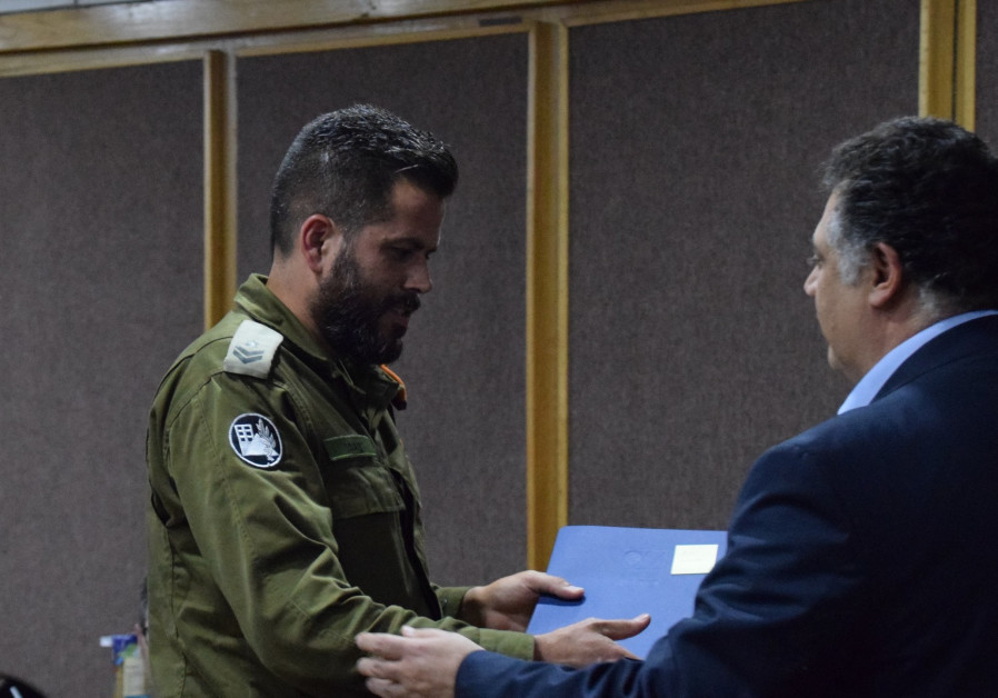 An Israeli officer in honored in a Ceremony in Mexico