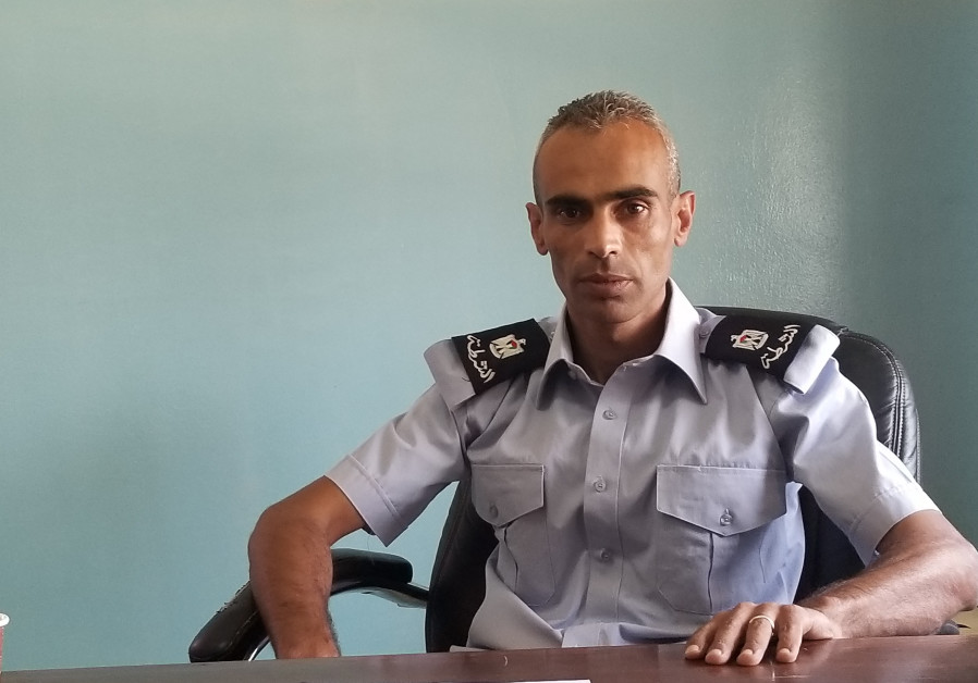 Major Saed Naasan in his office in Al-Ram