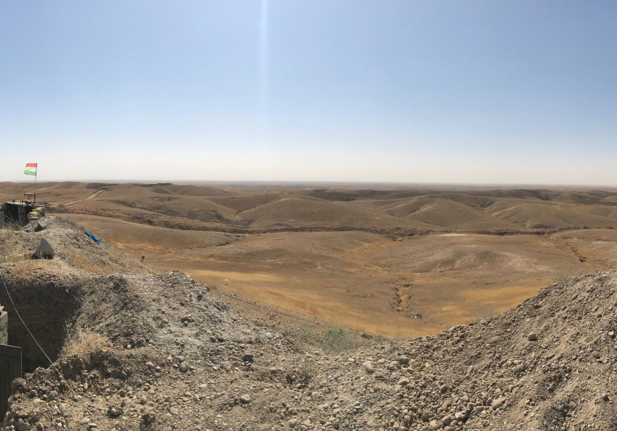 Kurdish frontline, with Hawija in the distance