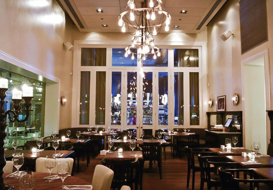 Restaurant Seatara overlooking the Mediterranean.