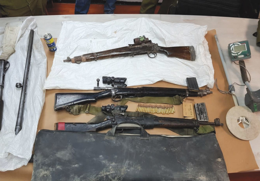 Border Police, IDF seize illegal sniper rifles in West Bank village