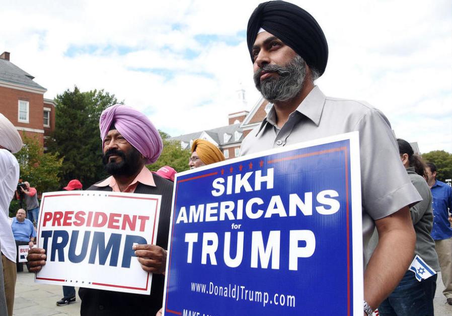 Auto Credit Post Falls >> Muslim, Sikh supporters rally for President Trump - American Politics - Jerusalem Post